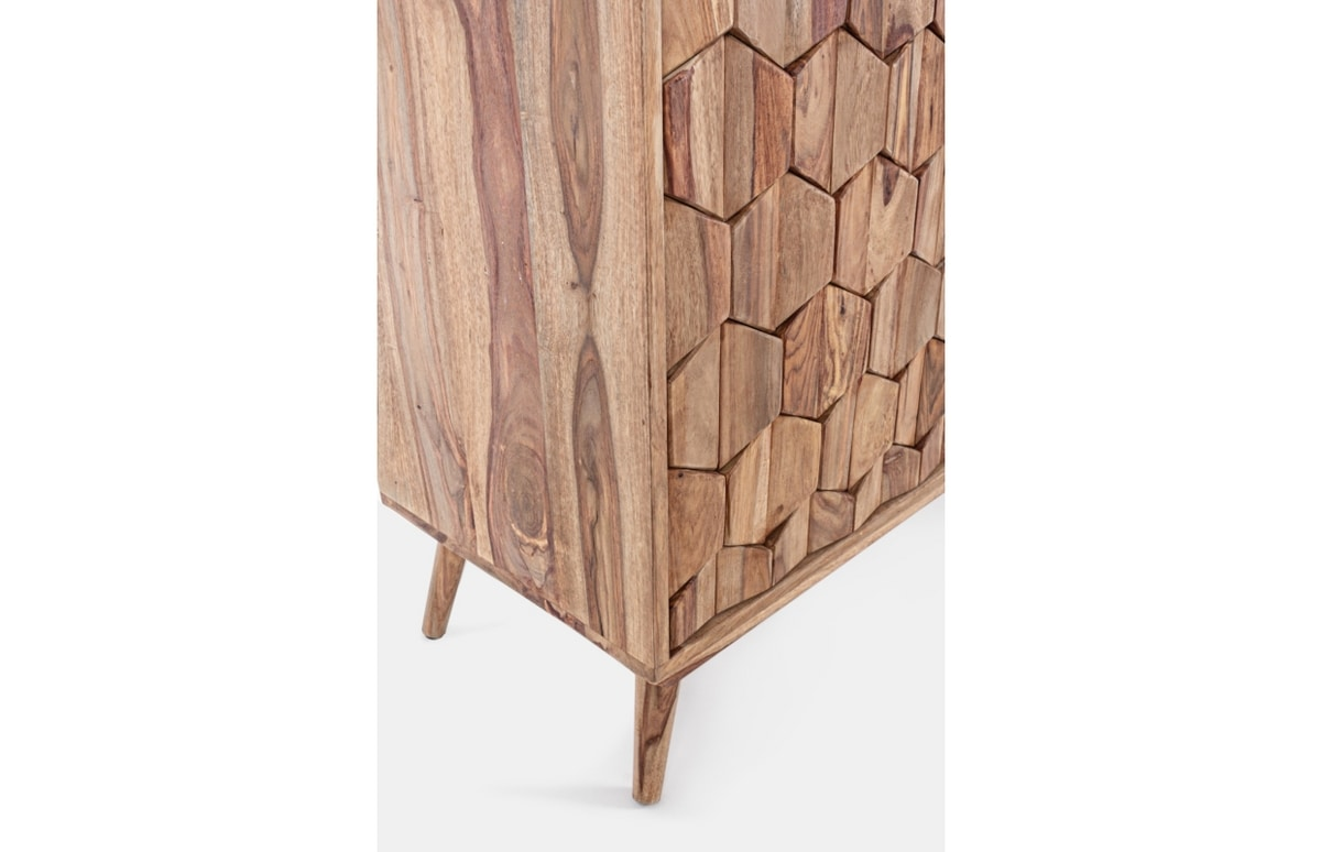 Sideboard 2A-3C Kant, Wooden sideboard, with honeycomb doors