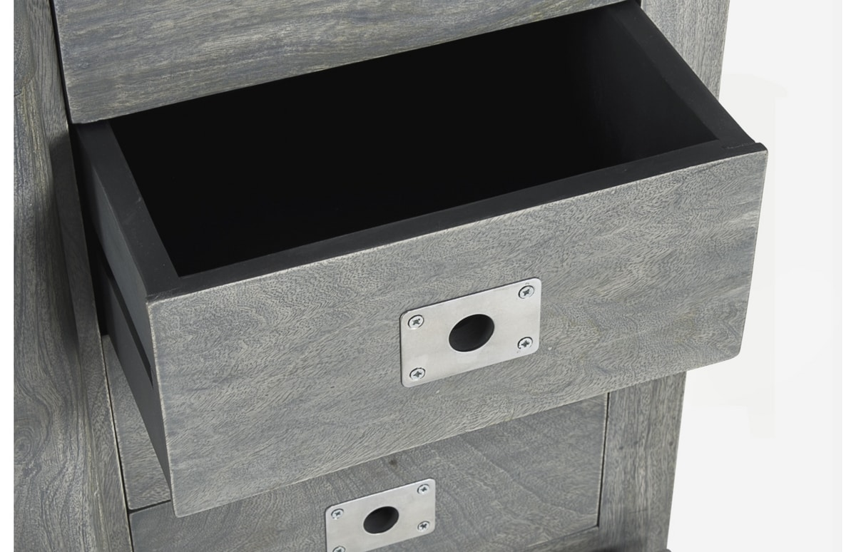Sideboard 2A-8C Jupiter gray, Sideboard in mango wood