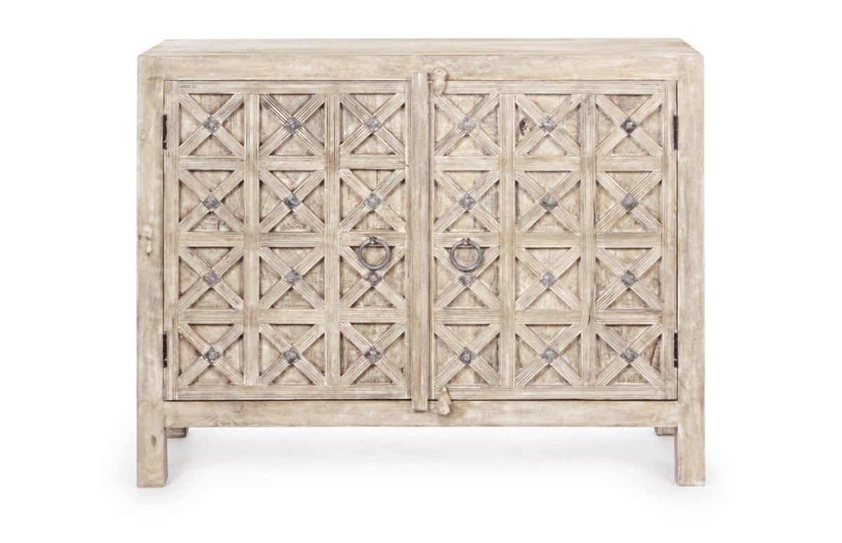 Sideboard 2A Engrave, Ethnic sideboard in mango wood