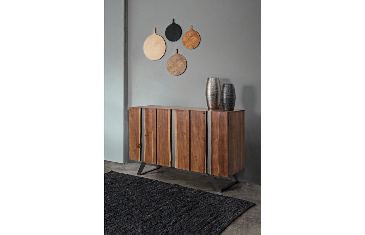 Sideboard 3A Aron, Sideboard in acacia wood and metal