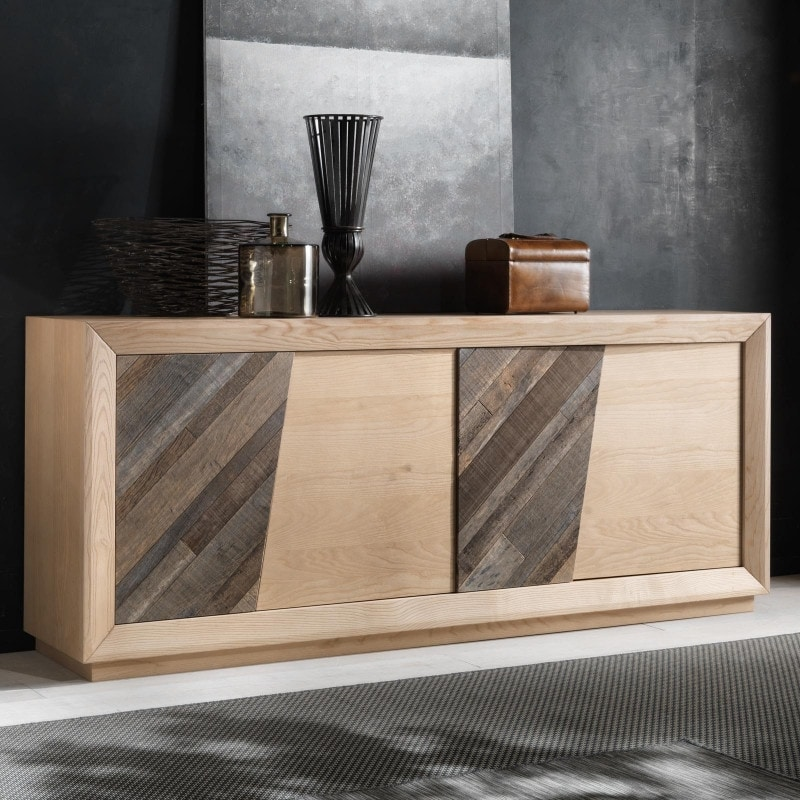 Spazio Contemporaneo SPAZE1051, Sideboard with antique wooden doors and secret compartments
