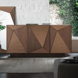 Spazio Contemporaneo SPAZE1063, 3-door sideboard with triangles decorations