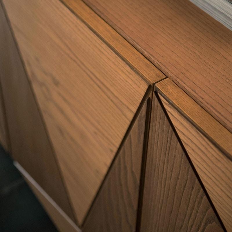 Spazio Contemporaneo SPAZE1063, 3-door sideboard with triangles decorations