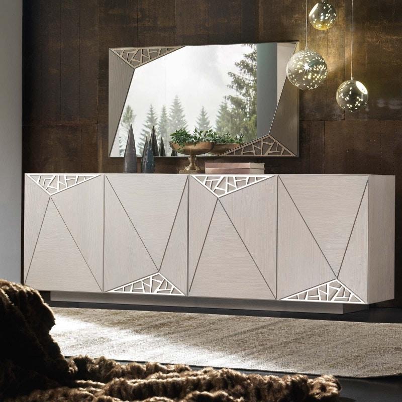 Spazio Contemporaneo SPAZE1067, Sideboard with decorative fretwork