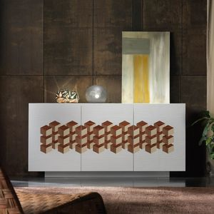 Spazio Contemporaneo SPAZE1069, Sideboard with geometric inlay