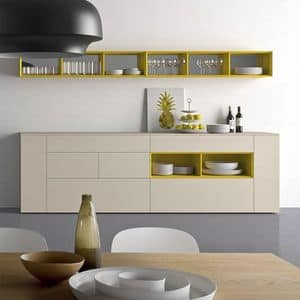 Spazio S306, Sideboard in essential style, made of wood