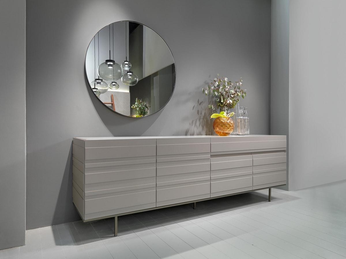STRIPE sideboard comp.02, Sideboard with minimal design