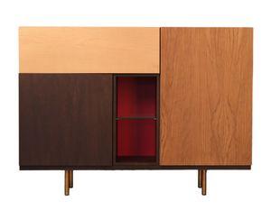 Swing 1735/F, Sideboard with geometric design