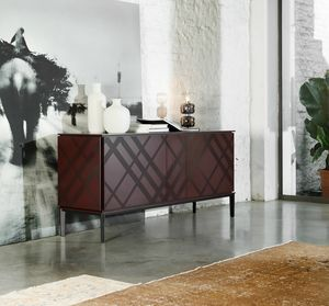 TARTAN, Sideboard in wood and metal