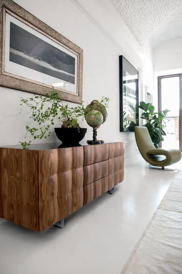 VENICE sideboard, Sideboard in laminated coated with PVC, for living room