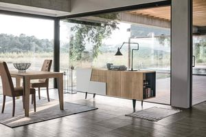 VERSUS 210 MA101, Elegant sideboard with diagonal door