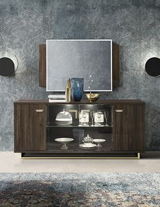 Volare sideboard, Sideboard in wood with characteristic grain