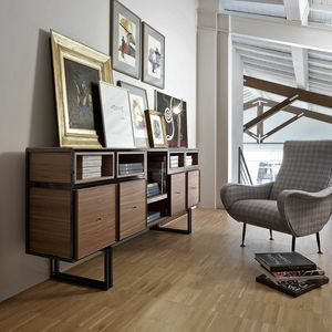 Wallis W009G, Modular sideboard, in metal and wood