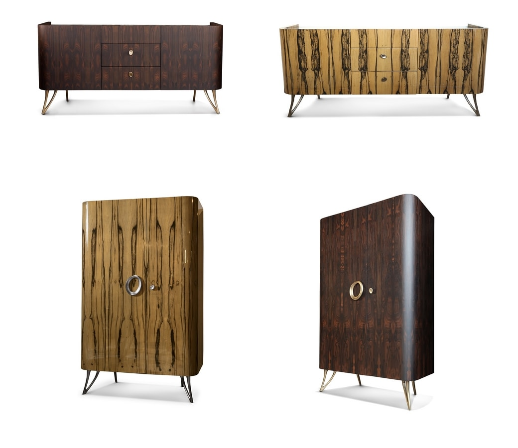 ZEUS bar cabinet GEA Collection, Bar cabinet, characterized by the use of natural textures