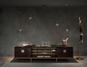 Zuan Living Cabinet, Living room sideboard with marble top