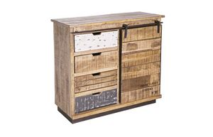 Sideboard 1A-4C Tudor, Sideboard in rustic country style