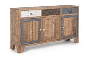 Sideboard 3A-3C Modez, Rustic sideboard, in mango wood