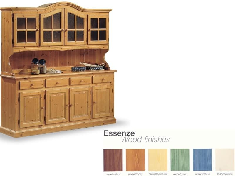 VAD/4, Solid wood sideboard, for rustic living room