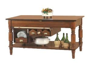 Art. 479, Island table with storage under the top