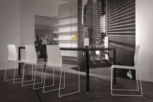Ernesto Ice Living, Metal table, customizable, for modern dining rooms
