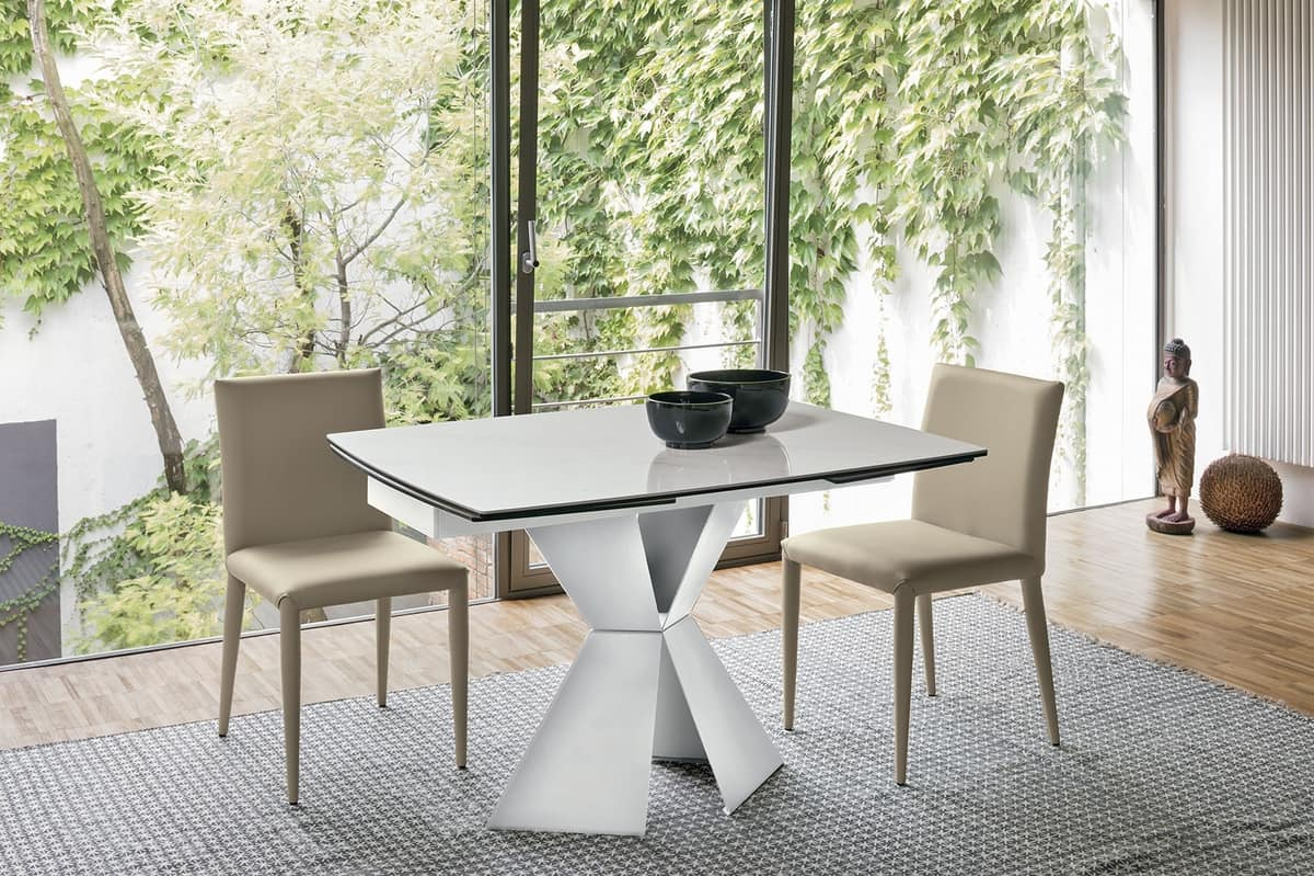 POSEIDONE 120 TA1A3, Extendable kitchen table