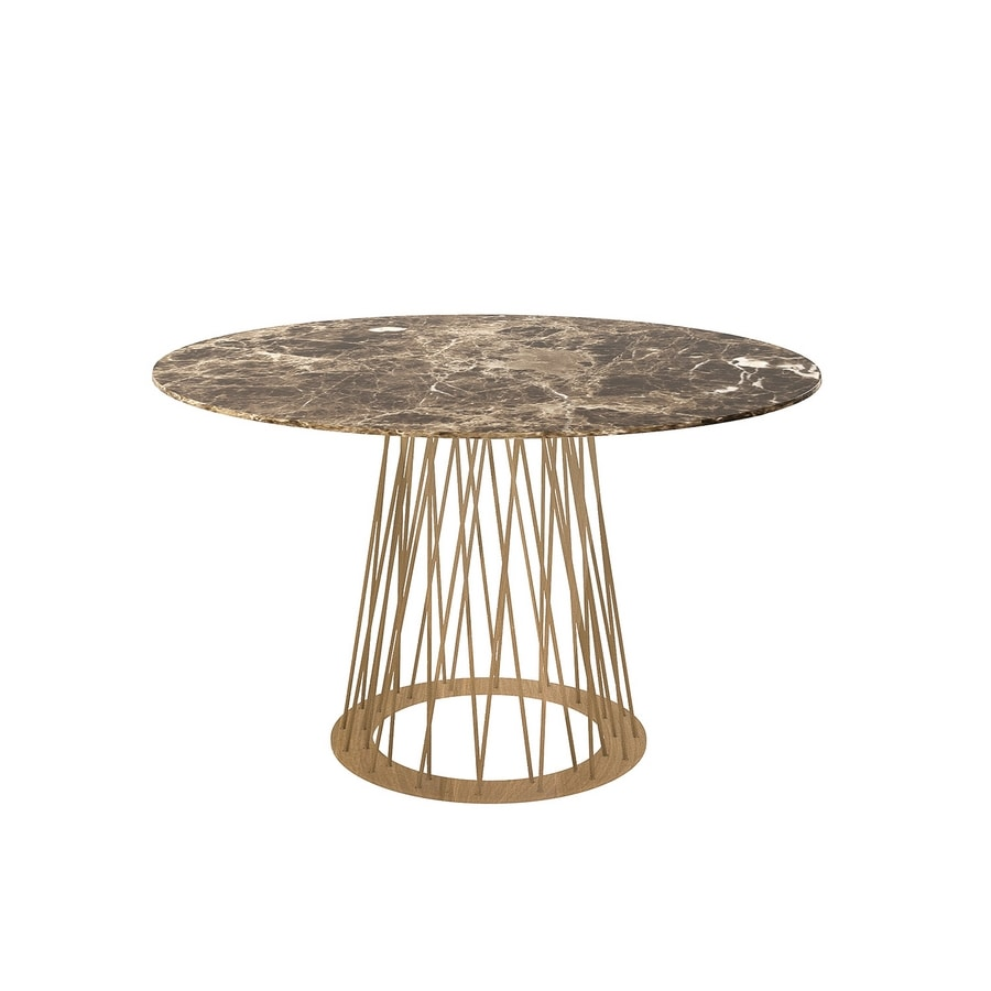 Roncisvalle, Oval dining table with iron base