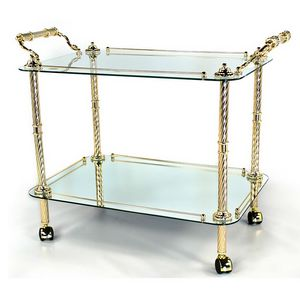 824, Trolley for dining room, in gold or silver