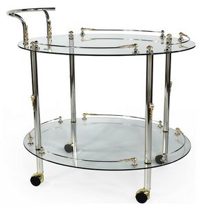 948, Food trolley with tempered glass shelves