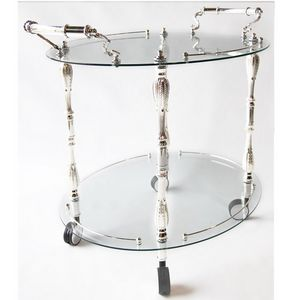 987, Food trolley, silver finish