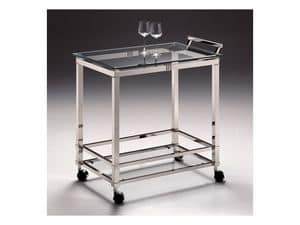 AMADEUS 3076, Trolley for hotels, in polished nickel brass