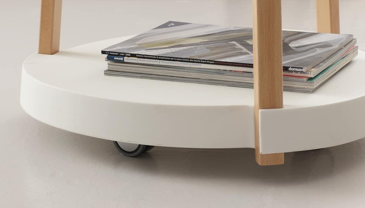 Art. 808 Oasi, Multifunctional trolley, in beech and polypropylene