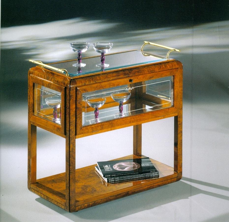 Art Déco Art.530 bar trolley, Luxurious bar trolley