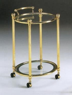 IONICA 675, Round brass trolley, for hotel kitchens