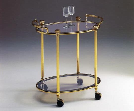 IONICA 679, Cupholders brass trolley, for elegant restaurants