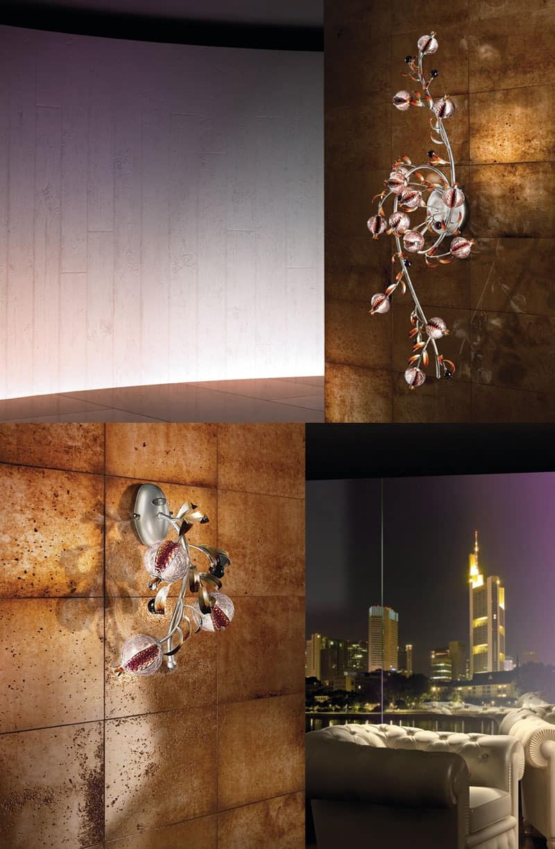 Ametista applique, Wall Lamp for contemporary hotel and restaurant