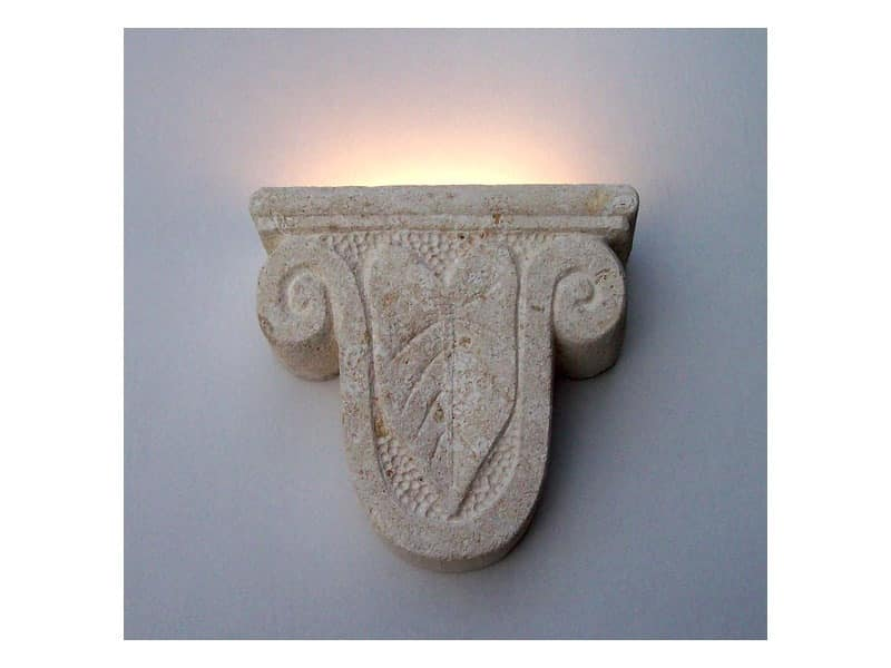 Ariete, Wall lamp, shape of a ram's head, made of stone