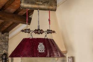 Art. L 78/B, Chandelier in leather with remote control to adjust height