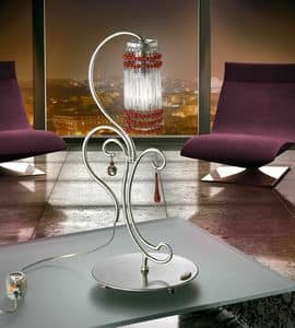 Casanova table lamp, Lamp in hand-forged metal, for Modern Offices