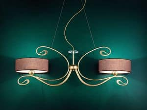 Charme applique, Classic wall lamp in forged handcrafted metal
