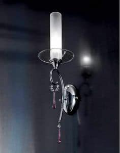 Sinfonia applique, Wall lamp with glass pendants and Sw crystals