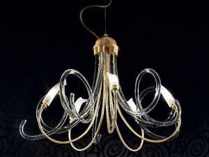 Chic chandelier, Chandelier with diffusers made entirely by hand