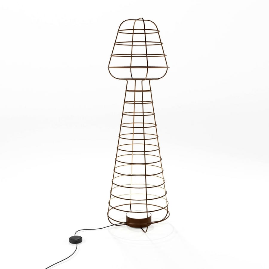 Colombina, Ground lamp in worked iron