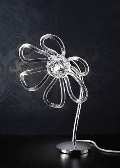 Daisy table lamp, Table lamp with glass handmade diffusers