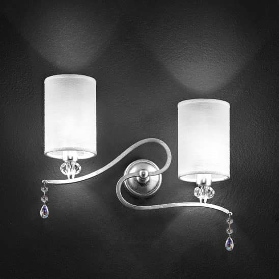Delhia applique, Metal wall lamp with 2 lights and sw pendants