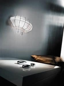 Full Moon applique, Modern wall lamp with sleek and seductive shape