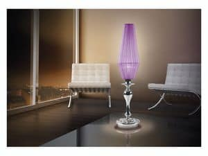 Karma table lamp, Desk lamp with 1 light, chromium glass bob�ches