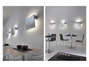 Luk, Wall lamp in polished stainless steel