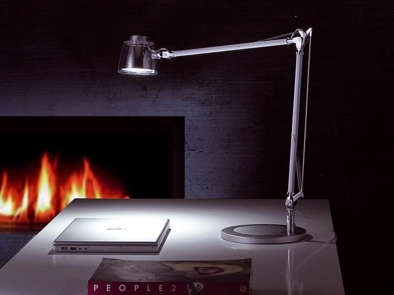 Mega Led, LED table lamp, aluminum arm, for office and home