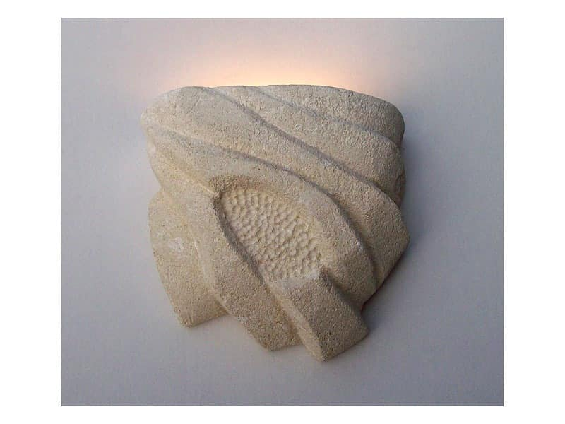 Nebio, Wall lamp, made of carved stone