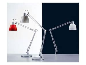 Opera, Table lamp for fluorescent bulbs, for offices